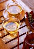 传统仪式中国的茶 免版税库存图片