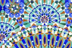 传统伊斯兰的马赛克 免版税库存图片