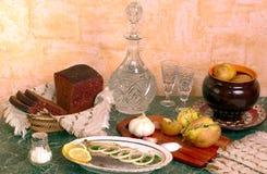 传统俄国的talbe 免版税库存照片