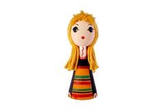传统保加利亚服装的玩偶 图库摄影