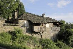 传统保加利亚村庄房子 库存照片