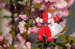 传统保加利亚的martenica 免版税库存照片