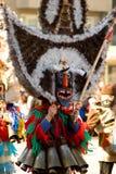 传统保加利亚kuker屏蔽的化妆舞会 免版税库存照片