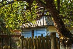传统农村建筑学在波兰 免版税库存照片