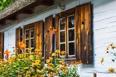 传统农村建筑学在波兰 免版税图库摄影