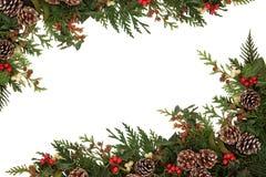 传统冬天边界 免版税库存照片