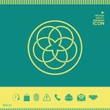 传统几何东方阿拉伯样式 徽标 您设计的要素 免版税库存照片