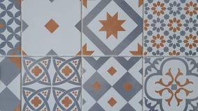 传统华丽葡萄牙装饰瓦片azulejos 免版税库存照片