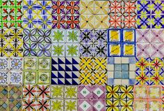 传统华丽葡萄牙azulejo瓦片 库存照片