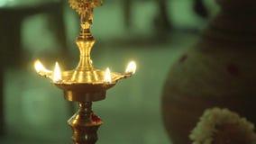传统南印地安黄铜油灯, 股票视频