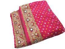 传统印度的莎丽服 图库摄影