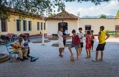 传统古巴正方形 免版税图库摄影
