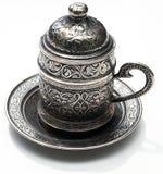 传统咖啡的罐 免版税库存图片