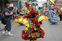传统哥伦比亚民间的组 免版税库存照片