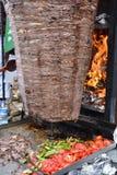 传统土耳其语Doner Kebab格栅 免版税库存图片