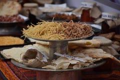 传统土耳其酥皮点心用肉 库存照片