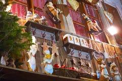 传统圣诞节大厅 库存图片