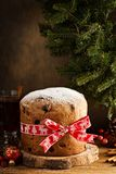 传统圣诞节意大利节日糕点用干果子 免版税库存照片