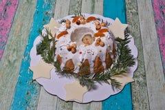 传统圣诞节曲奇饼 库存图片