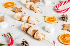 传统圣诞节甜点 库存图片