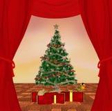 传统圣诞节的场面 免版税图库摄影