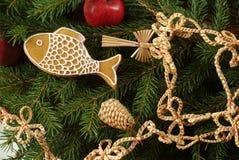 传统圣诞节的装饰 库存照片