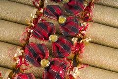 传统圣诞节薄脆饼干 库存图片