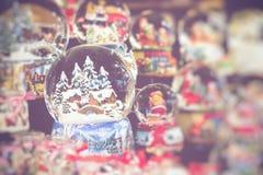 传统圣诞节装饰 选择聚焦 免版税图库摄影