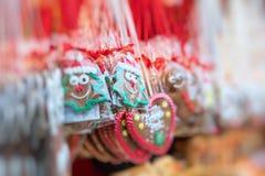 传统圣诞节装饰 选择聚焦 库存照片