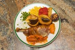 传统圣诞节食物 免版税库存照片
