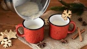 传统圣诞节饮料蛋黄乳用桂香,茴香星 股票录像
