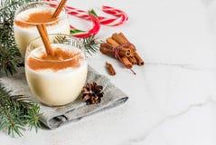 传统圣诞节饮料蛋黄乳 免版税库存图片