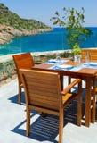 传统地中海餐馆 图库摄影