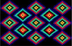 传统地毯塞尔维亚人的纹理 免版税库存图片