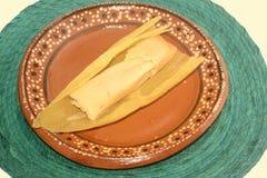 传统墨西哥甜玉米tamal从坎德拉里亚角天庆祝的恰帕斯州状态 库存图片