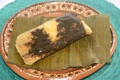 传统墨西哥痣tamal从坎德拉里亚角天庆祝的瓦哈卡状态 库存图片
