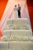 传统婚宴喜饼 免版税库存照片