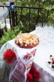 传统婚礼面包 库存照片