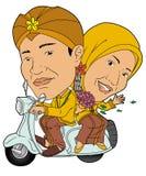 传统婚礼 库存例证