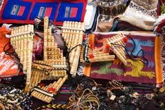 传统安地斯山的工艺品 免版税库存图片