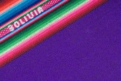 传统安地斯山的玻利维亚的挂毯 库存照片