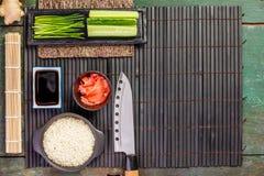 传统寿司成份 库存图片