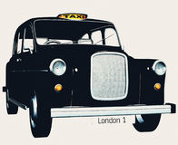 传统小室英国的出租汽车 免版税库存照片