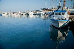 传统小船的捕鱼 库存图片