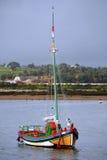 传统小船的捕鱼 库存照片