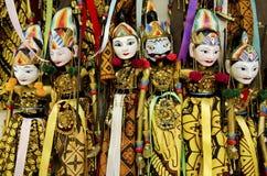 传统巴厘岛印度尼西亚的木偶 库存图片