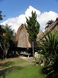 传统巴厘岛的房子 免版税库存照片