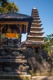 传统巴厘语印度寺庙建筑学 库存图片