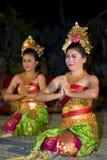 传统巴厘语的舞蹈演员 库存照片
