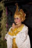 传统巴厘语的舞蹈演员 库存图片